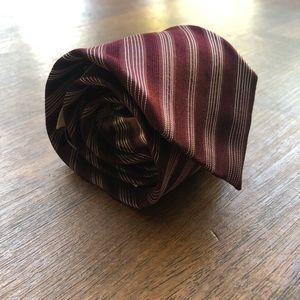 Giorgio Armani Striped Silk Tie NWT